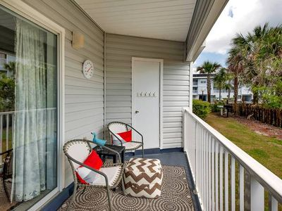 Photo for First floor adorable condo only steps to the white sands of the beach!