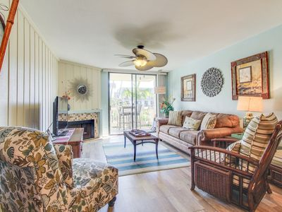 Photo for NEW LISTING! Beach walk from condo w/ shared pool, hot tub & pool table!