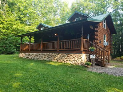 Photo for Winding Creek Cabin  A tranquil cabin located on 5 acres of wooded land