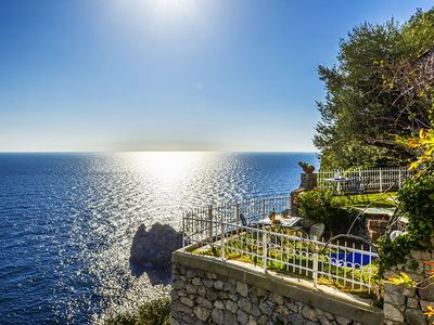 Photo for Sea View Casa Glicine with Private Terrace, Parking and Direct Access to the Sea