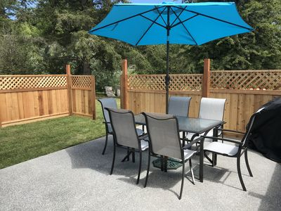 Here is a picture of your fenced private deck, and your own BBQ