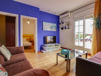 Photo for Lovely two bed apartment with terrace in Glòries