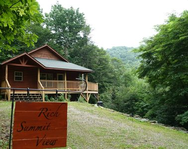 Photo for MOUNTAIN VIEWS, HOT TUB, FREE WIFI,  PRIVACY, ULTIMATE RELAXTION