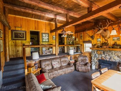Photo for Camp Custer Log Cabins (Sky View Cabin) 5 BDR historic CCC officers quarters.