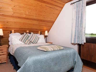 Photo for Hardy Chalet Scandinavian style chalet on working dairy farm