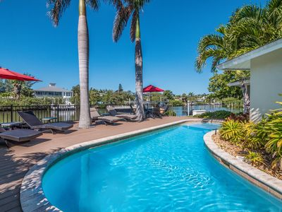 Photo for Waterfront Luxury Home: North End w/Dock, Pool, Spa, Screened Lanai, Free WiFi