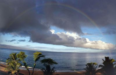 Morning Rainbow from Oceanfront Unit Balcony.