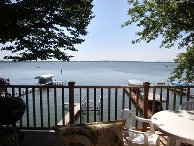 Photo for Home on the Water with Beautiful Lake View and Private Dock