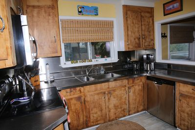 Stainless Steel Countertop Kitchen- with Double Oven, Microwave, Dishwasher