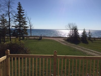 Photo for Bois Blanc #1 Beach Rental on Lake Huron! Fire Pit, Cenrtral A/C, FREE WIFI