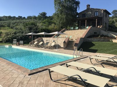 Photo for Beautifully renovated farmhouse in Umbria, pool, stunning views, sleeps 10-12
