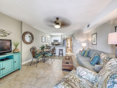 Photo for Gulf front condo with community outdoor and indoor pools, hot tub, and sauna!