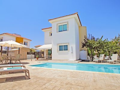 Photo for Neoma Villa - Modern Villa with Private Pool, A/C located in the quiet complex of Ayia Thekla! - Free WiFi