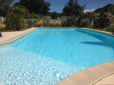 Photo for Villa with large private and secure swimming pool, quiet, sleeps 4 to 6