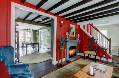 Photo for Tannery Brook Cottage: Terraced Garden with Patio, Cascade and Fire Pit.