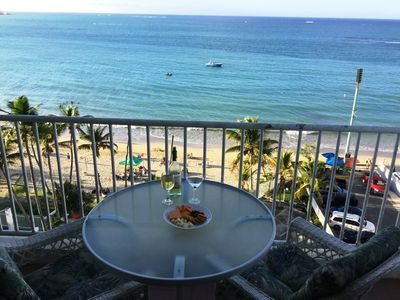 Photo for Private OCEANFRONT Condo - Breathtaking Views on Beach~ Isla Verde - 2 Bedroom