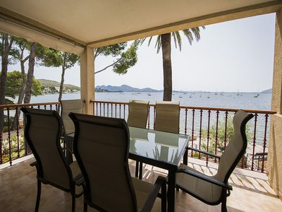 Photo for 2 bedroom, 2 bathroom apartment on the Pine Walk. Sea views, WIFI, air con