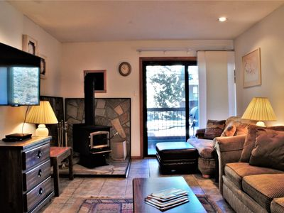 Photo for Charming Condo just a Short Walk to Slopes-Wood Stove, WiFi, Grill, Full Kitchen