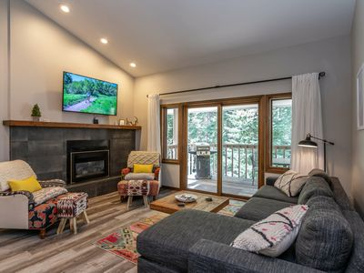 Photo for GORGEOUS Mtn Modern Townhome | All New! | Forest & Trail Access | Sleeps 9!
