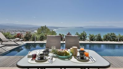 Photo for Villa Mystique, overlooking the city of Chania, amazing sea view, luxury