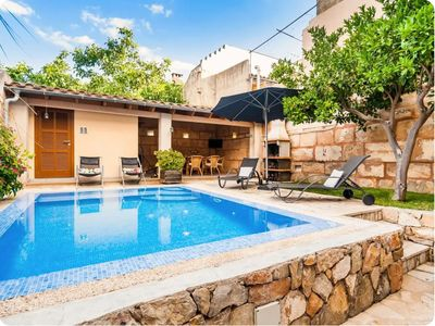 Photo for Beautiful Holiday Home Can Vall with Pool, Air Conditioning, Wi-Fi, Balcony & Terraces; Parking Available