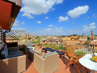 Photo for Rome, Trastevere, apartment on two levels with a splendid panoramic terrace