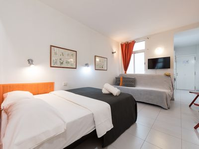 Photo for Comfortable studiofew steps from the beach Las Canteras