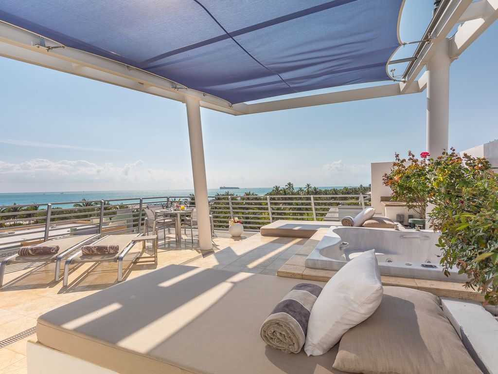 OceanFront Ultra Luxury Penthouse 09 Private Rooftop Jacuzzi Steps To Lincoln Rd