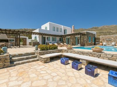 Photo for 5 Bedroom Villa with private pool and sea view, Panormos Beach, Mykonos