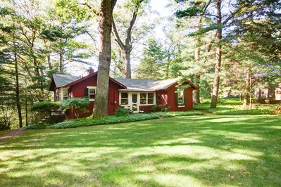 Cottage with a large back yard for games and a great place for kids to play