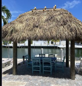 New Tiki Hut with Air King Fan & Led lights
