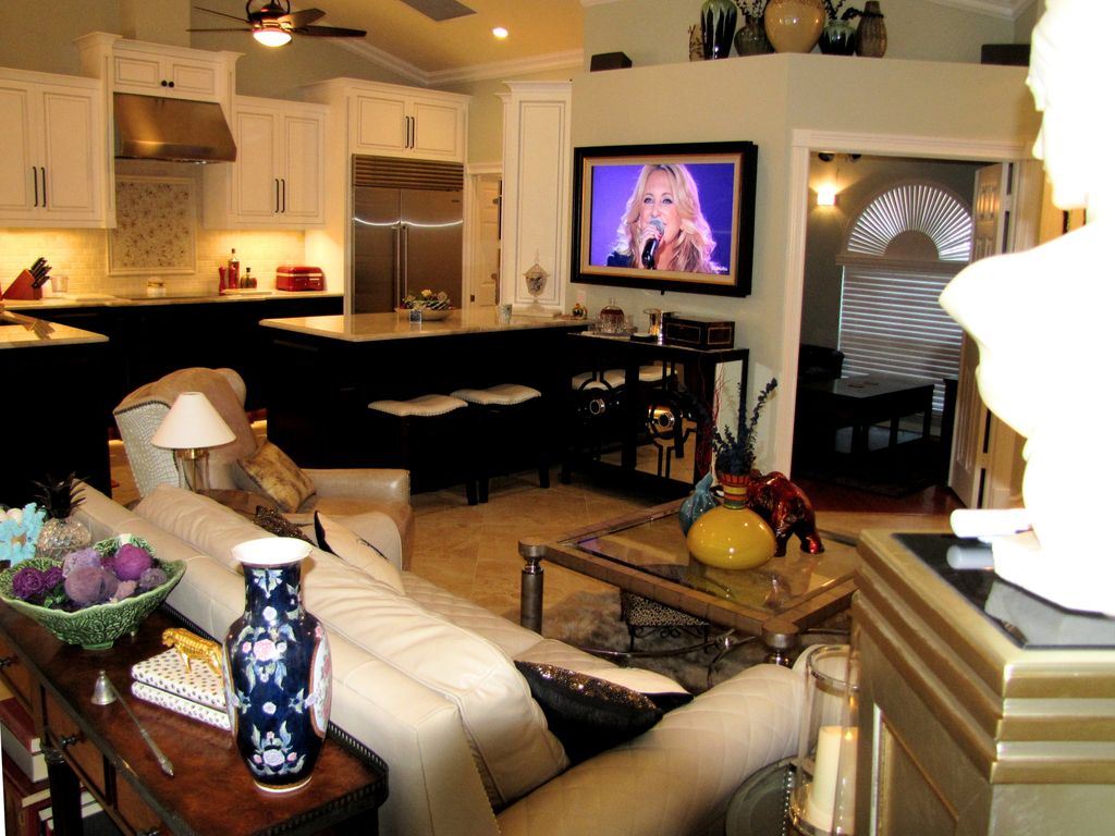 two master suites 2 heated pools spa homeaway south naples opulent great room custom furnishings commissioned art