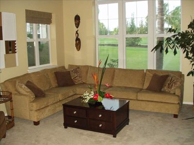 Livingroom overlooking the Golf Course