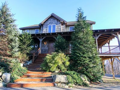 Photo for Sugar Hill - Luxury home on 17 acres! Hot Tub, Huge Deck with Mountain Views, Pool Table