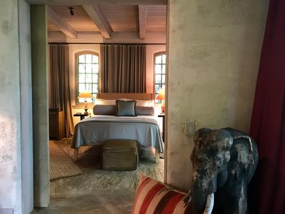Africa-Inspired Downstairs Master Suite Experience on the Coast of Maine