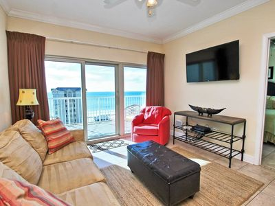 Photo for Crystal Tower 908 - 9th Floor with Luxury Amenities!  Great for families or couples!  Free Wi-Fi, Private Balcony, Beach Views and even a Gulf Side Pool with Lazy River!