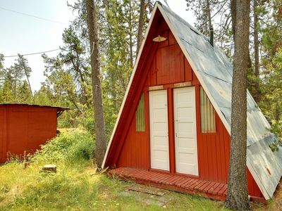 Photo for Charming, dog-friendly, A-frame cottage - a short stroll to the water's edge