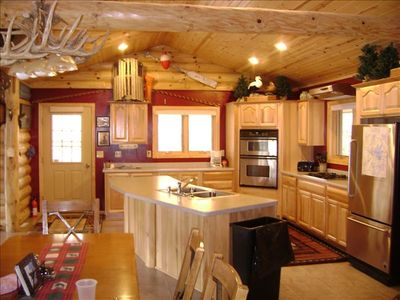 Large open kitchen that is great for entertaining.