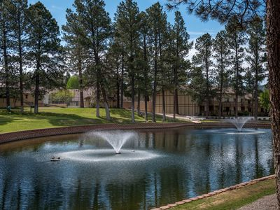 Photo for Cabin near Lake w/ WiFi, Fireplace, Gameroom, Grill, Complex Pool, Golf & Tennis