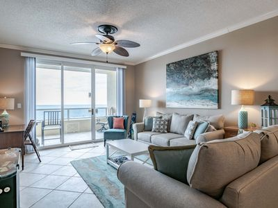 Photo for Newly Updated Beachfront Condo. Private Balcony with Stunning Views. Indoor and Outdoor Resort Pools