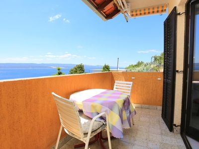 Photo for Studio flat with balcony and sea view Marušići (Omiš)