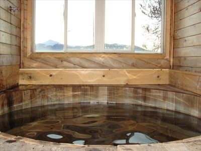 Hot tub with sliding window.  Unobstructed views of byers, valley, and city.