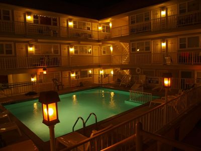 Photo for END UNIT CONDO WILDWOOD NJ, POOL, CABLE & WiFi, patio area! unit 206