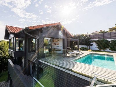 Photo for Contemporary Villa with Pool, Fireplace, Ocean Views in Biarritz