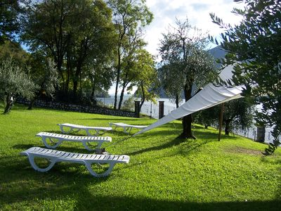 Photo for La Stallina - charming chalet with garden overlooking Lake Iseo