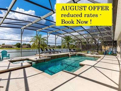 Photo for AUGUST OFFER - Spectacular Lake View home  minutes to Disney -newly refurbished