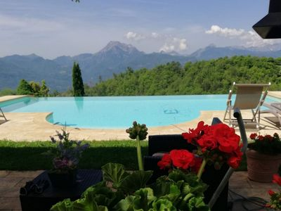 Photo for Barga -cottage & barn 6 hctres of land, private pool, WIFI , stunning views!