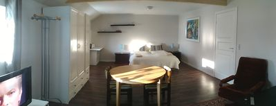 Photo for Super dobb room, 35m2 with TV, wifi, kingsize bed and private bathroom.