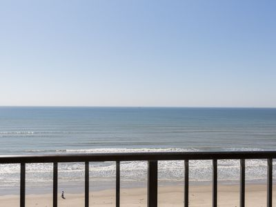 Photo for Seazatt View Condo - 2/1 Oceanfront on Seawall Blvd. - Across from Babe's Beach