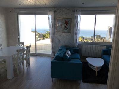 Photo for House Loft 6P, 3 Ch, Beautiful sea view, all refitted, beach Kersiny to pi